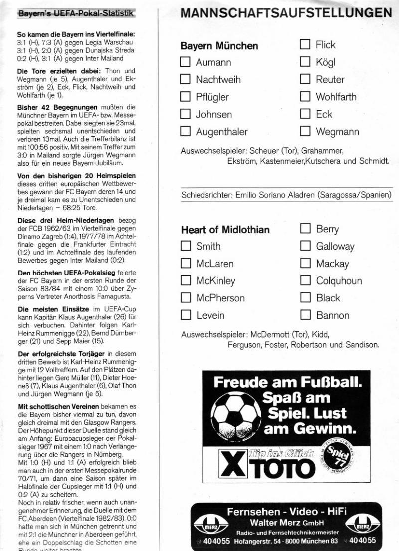 Бавария (Германия) - Хартс (Шотландия) 2:0. Нажмите, чтобы посмотреть истинный размер рисунка