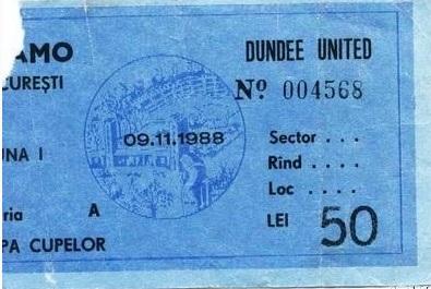 Динамо Бухарест (Румыния) - Данди Юнайтед (Шотландия) 1:1
