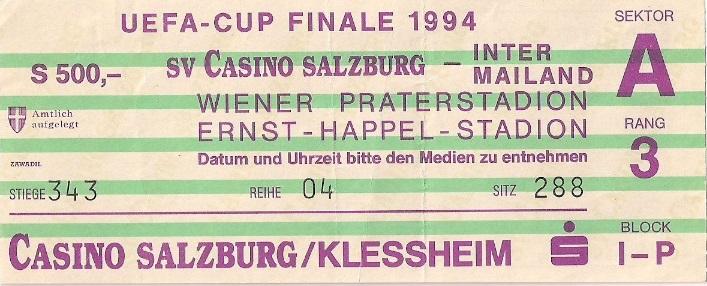 Зальцбург (Австрия) - Интер (Италия) 0:1