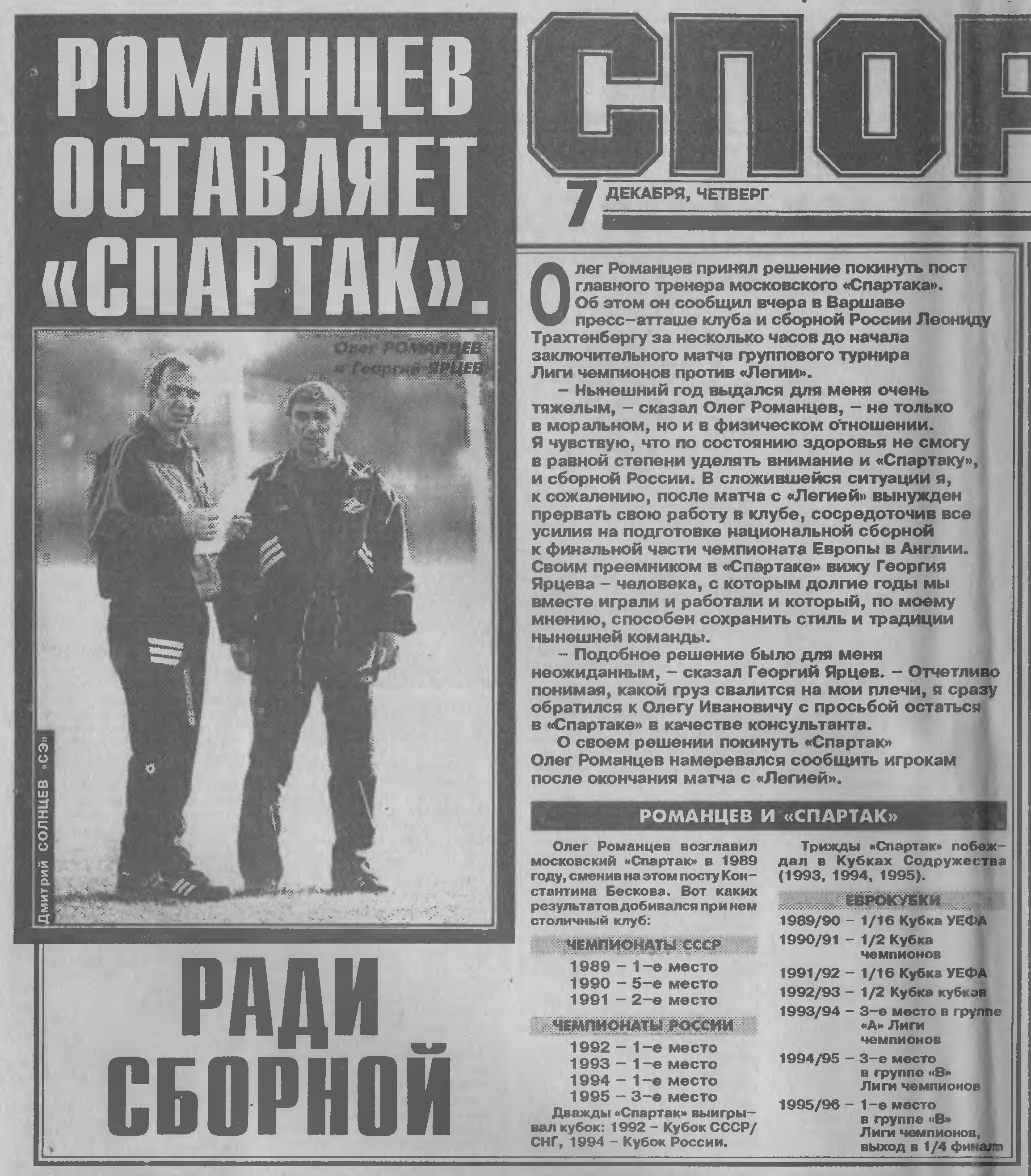 Легия (Польша) - Спартак (Россия) 0:1