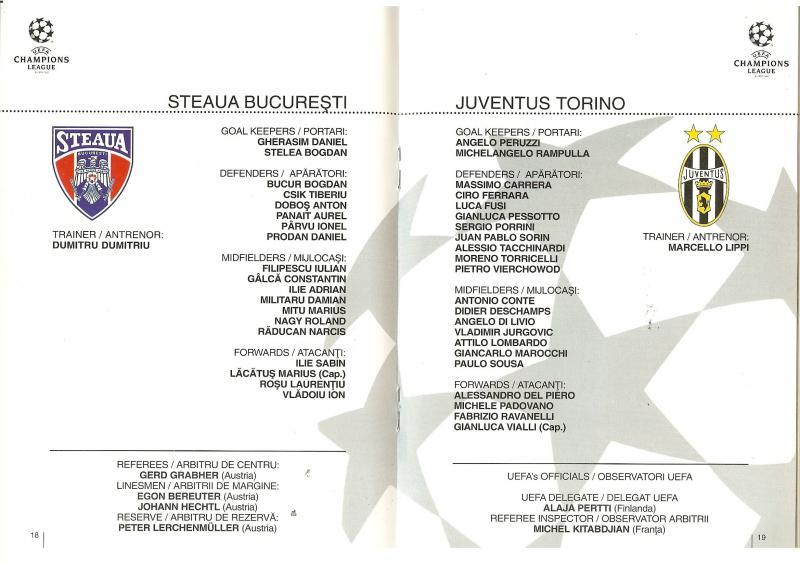 Стяуа (Румыния) - Ювентус (Италия) 0:0. Нажмите, чтобы посмотреть истинный размер рисунка