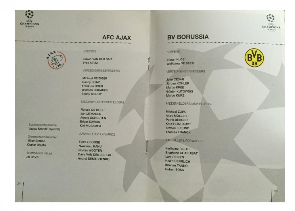 Аякс (Голландия) - Боруссия Дортмунд (Германия) 1:0. Нажмите, чтобы посмотреть истинный размер рисунка