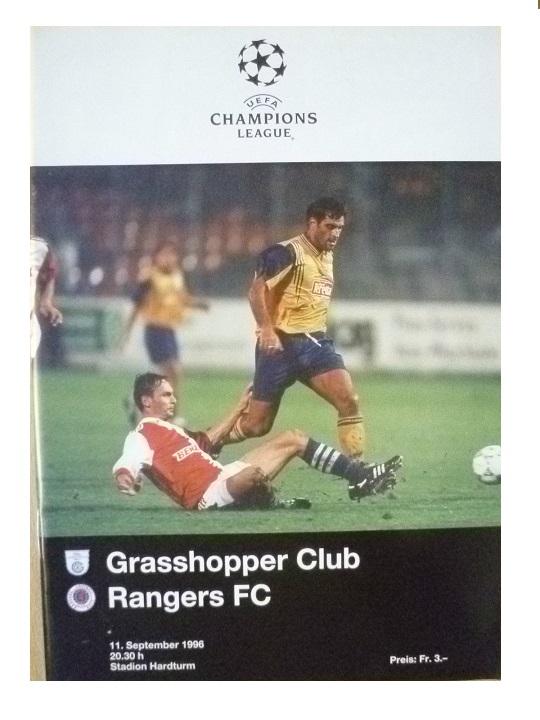 Грассхоппер (Швейцария) - Глазго Рейнджерс (Шотландия) 3:0