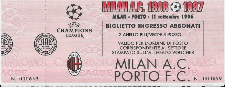 Милан (Италия) - Порту (Португалия) 2:3