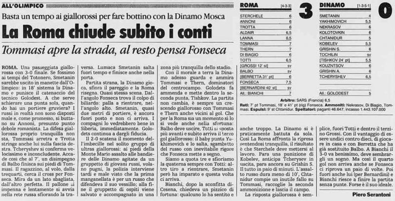 Рома (Италия) - Динамо (Россия) 3:0. Нажмите, чтобы посмотреть истинный размер рисунка