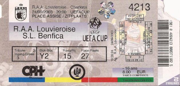 Ла Лувьер (Бельгия) - Бенфика (Португалия) 1:1