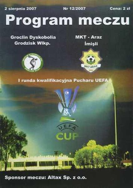 Гроцлин (Польша) - Араз (Азербайджан) 1:0