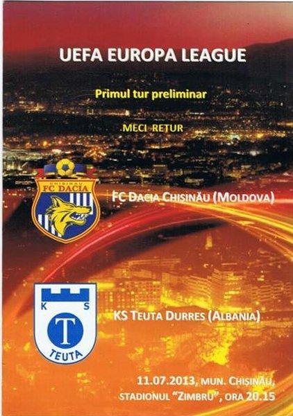 Дачия (Молдавия) - Теута (Албания) 2:0