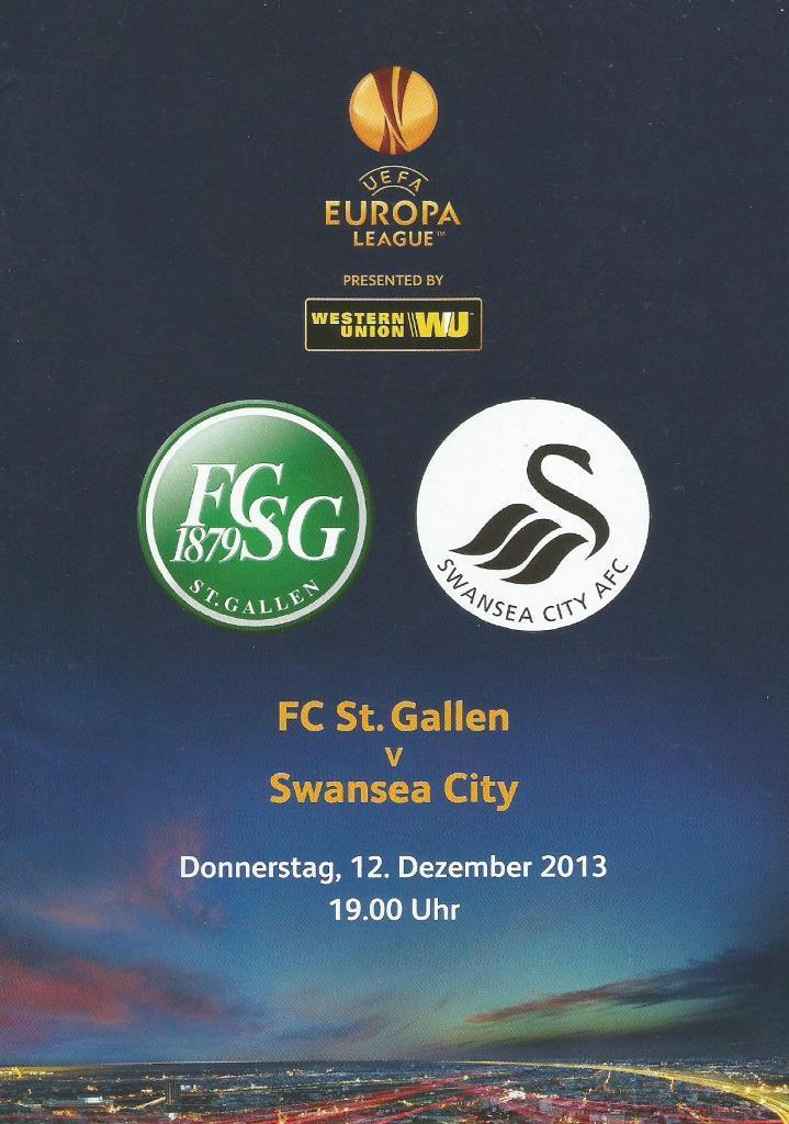 Санкт-Галлен (Швейцария) - Суонси Сити (Англия) 1:0