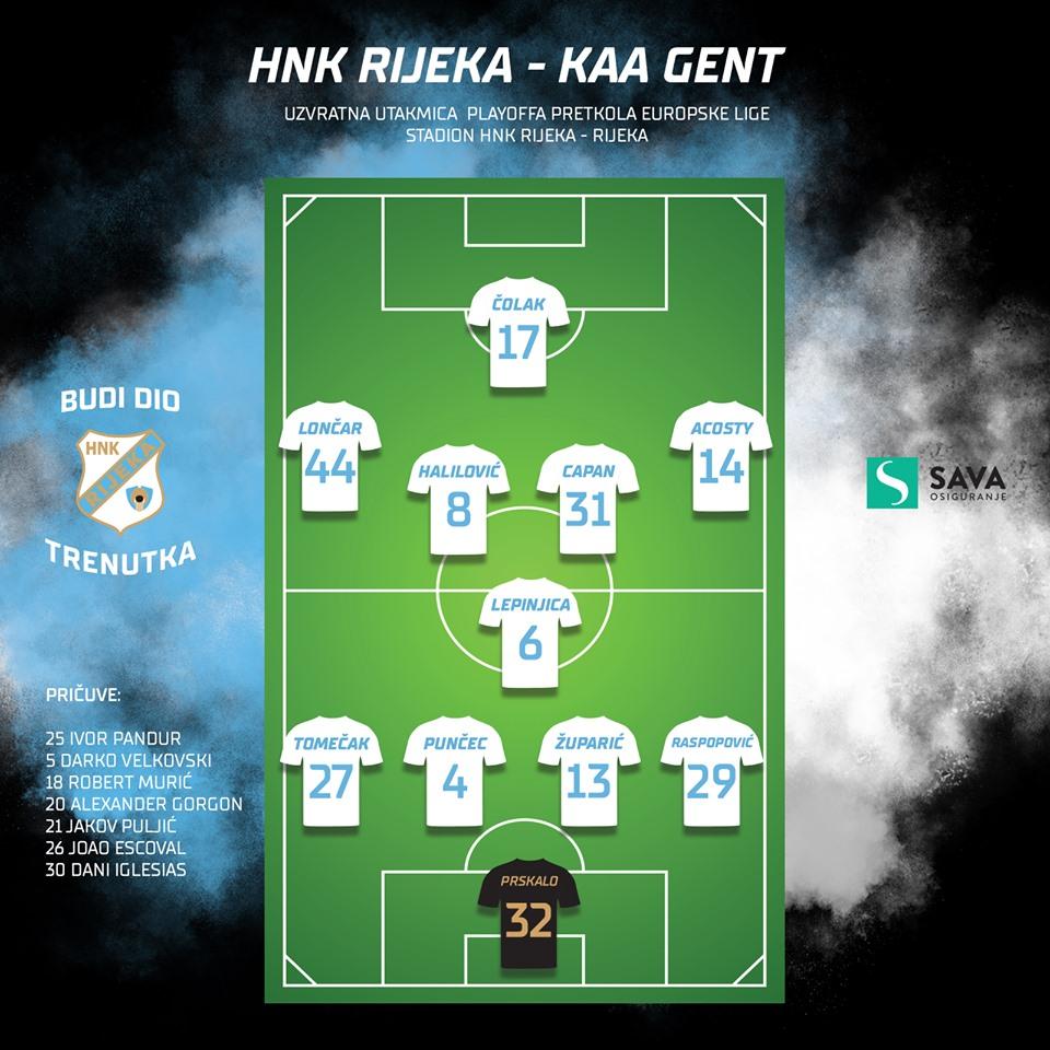Риека (Хорватия) - Гент (Бельгия) 1:1
