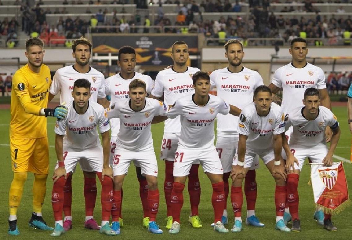 Карабах (Азербайджан) - Севилья (Испания) 0:3. Нажмите, чтобы посмотреть истинный размер рисунка