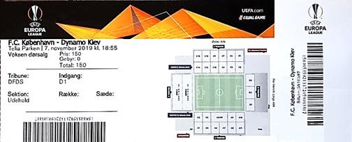 Копенгаген (Дания) - Динамо Киев (Украина) 1:1