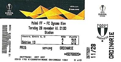Мальмё ФФ (Швеция) - Динамо Киев (Украина) 4:3