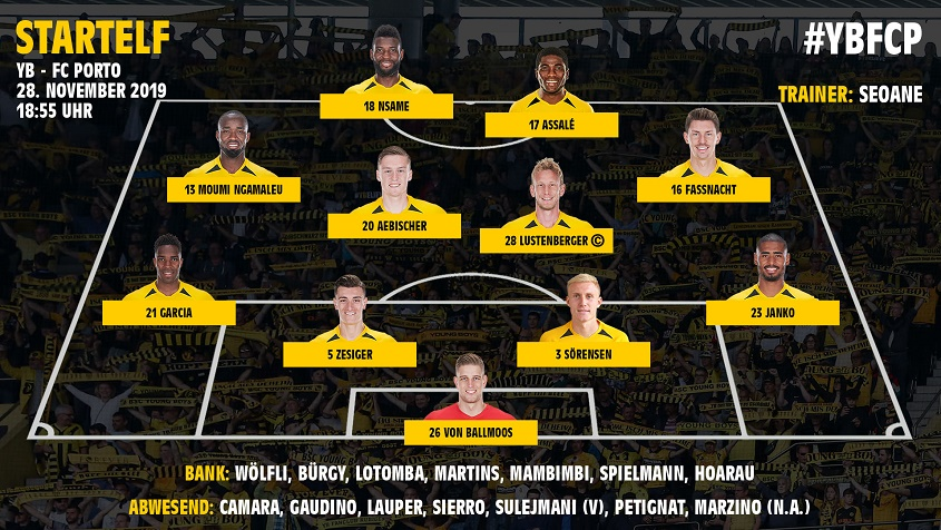Янг Бойз (Швейцария) - Порту (Португалия) 1:2