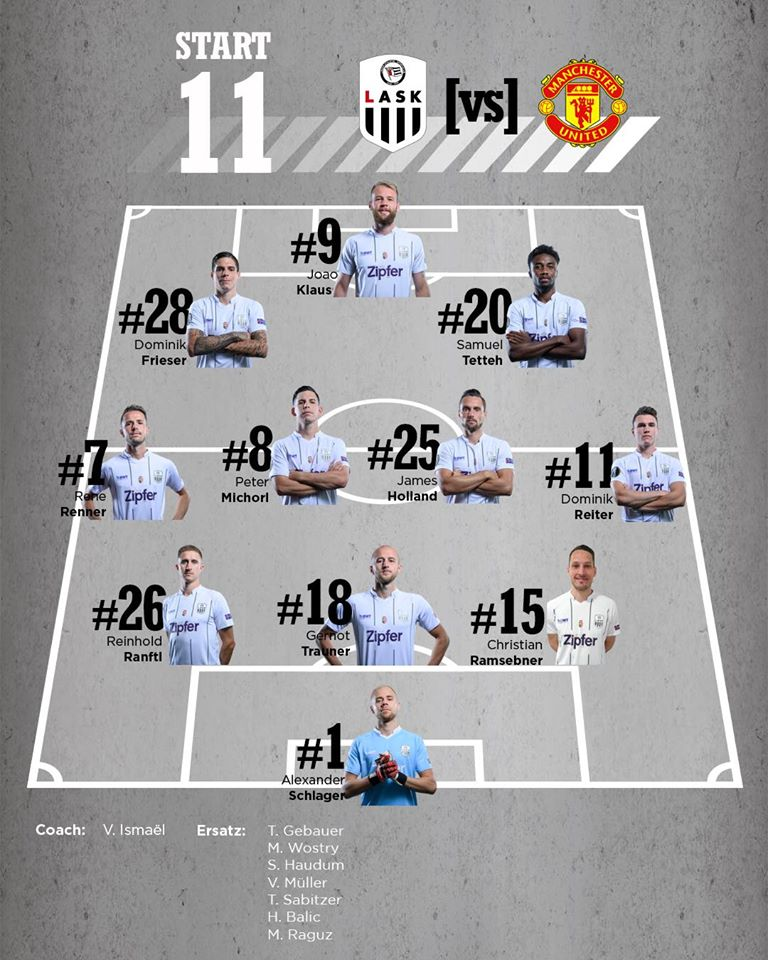ЛАСК (Австрия) - Манчестер Юнайтед (Англия) 0:5