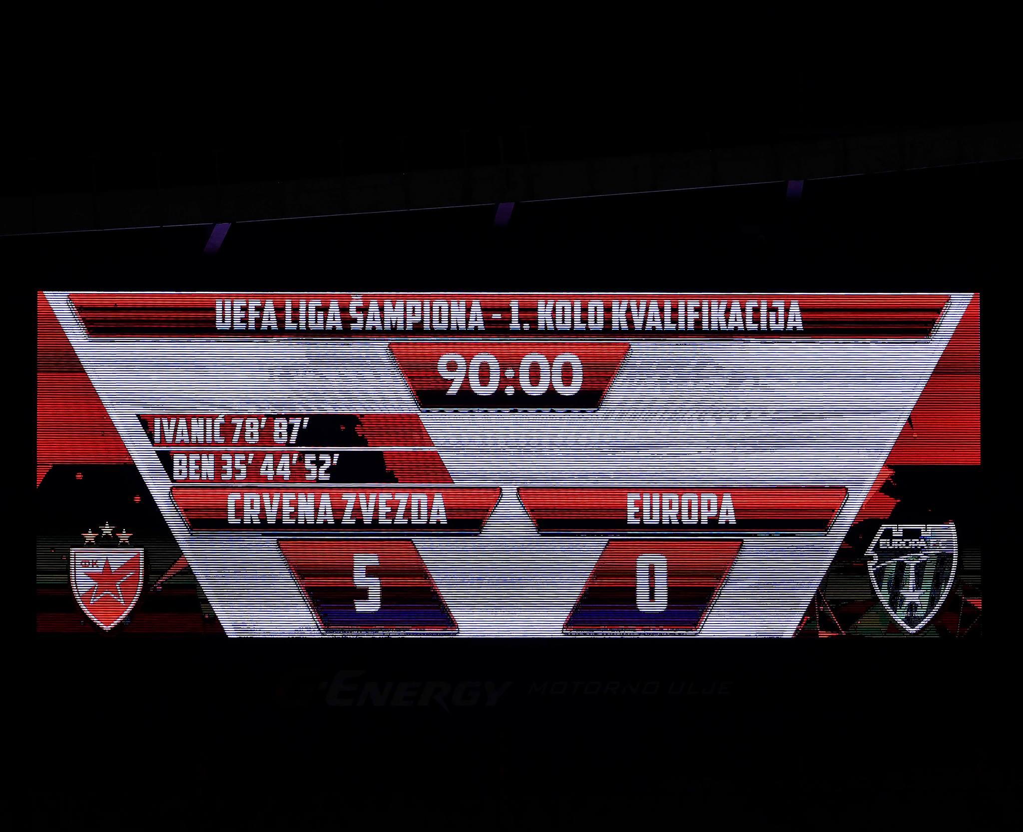 Црвена Звезда (Сербия) - Колледж Европа (Гибралтар) 5:0