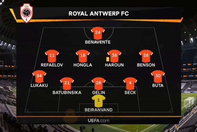 Тоттенхэм (Англия) - Ройял Антверпен (Бельгия) 2:0
