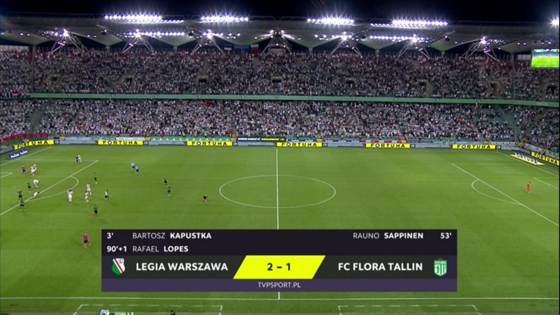 Легия (Польша) - Флора (Эстония) 2:1