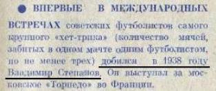 Сб. рабочих клубов Ниццы - Торпедо (Москва) 1:6