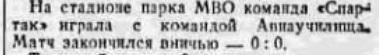 Спартак (Москва) - Авиаучилище 0:0