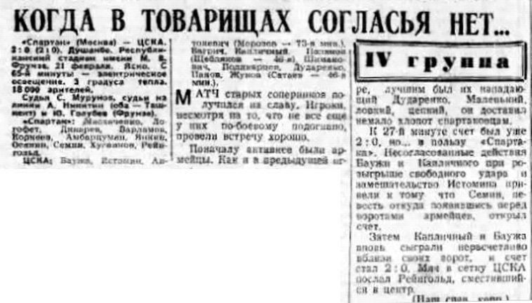 Спартак (Москва) - ЦСКА (Москва) 2:0