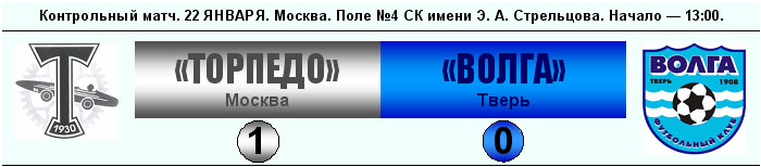 Торпедо (Москва) - Волга (Тверь) 1:0