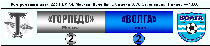 Торпедо (Москва) - Волга (Тверь) 2:2