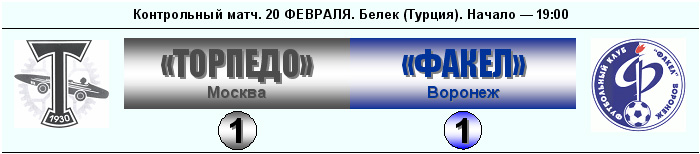 Торпедо (Москва) - Факел (Воронеж) 1:1