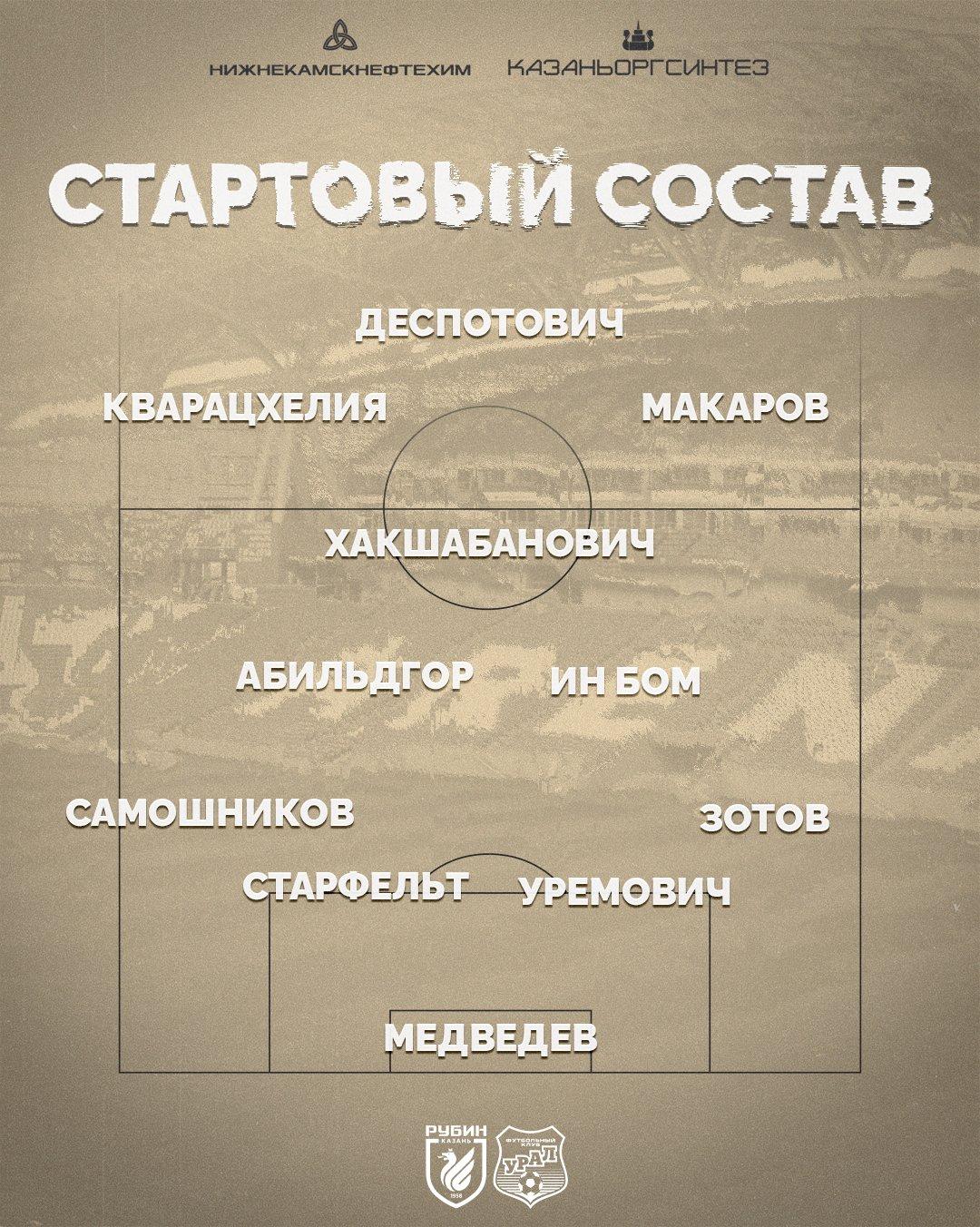Рубин (Казань) - Урал (Екатеринбург) 3:1