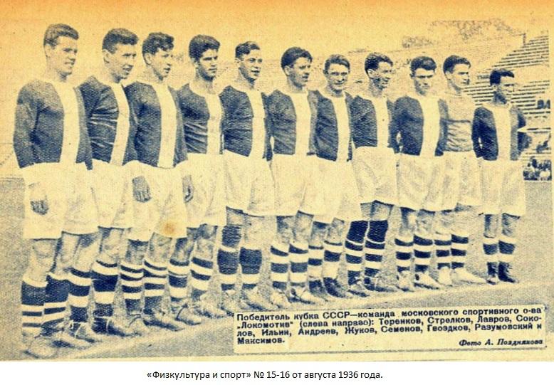 Локомотив (Москва) - 1936 о