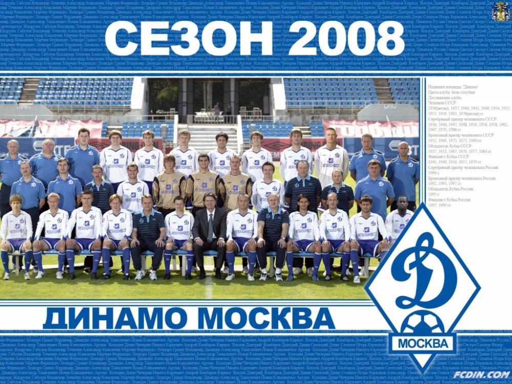 Динамо (Москва) - 2008. Нажмите, чтобы посмотреть истинный размер рисунка