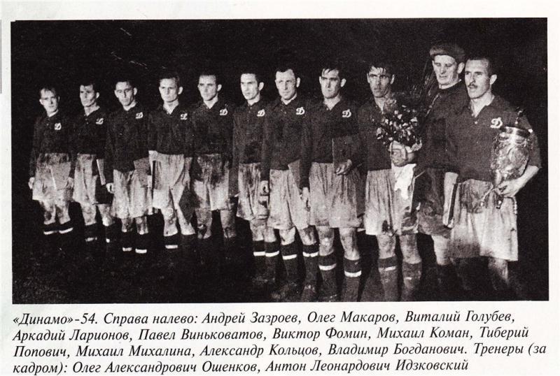 Динамо (Киев) - 1954. Нажмите, чтобы посмотреть истинный размер рисунка