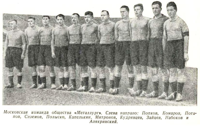 Металлург (Москва) - 1938