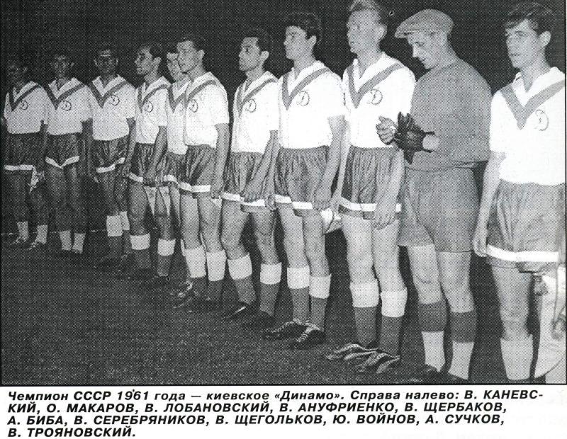 Динамо (Киев) - 1961. Нажмите, чтобы посмотреть истинный размер рисунка