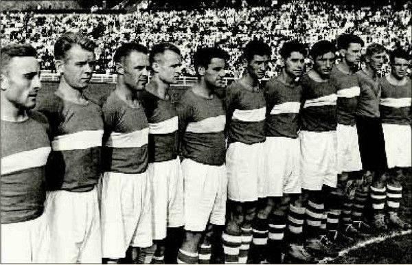 1936 год (весна) команда «Спартак» (Москва) - третье место