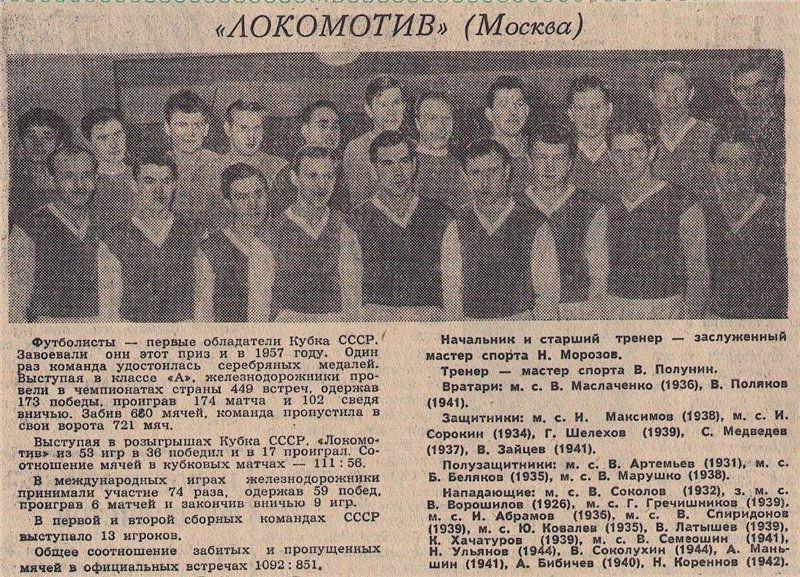 Локомотив (Москва) - 1962