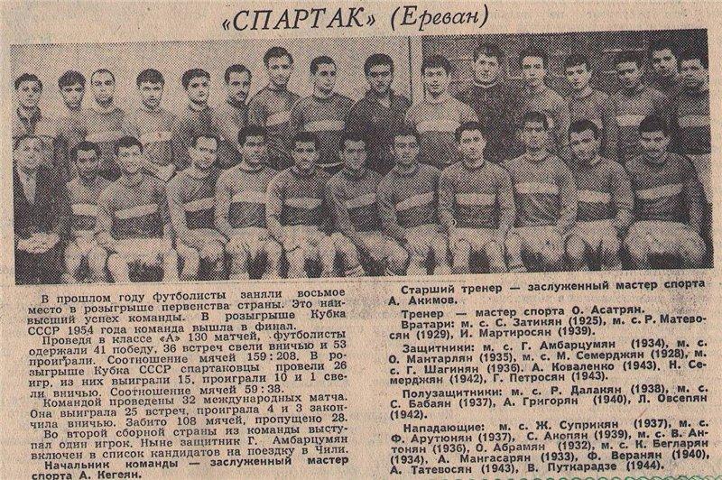 Спартак (Ереван) - 1962