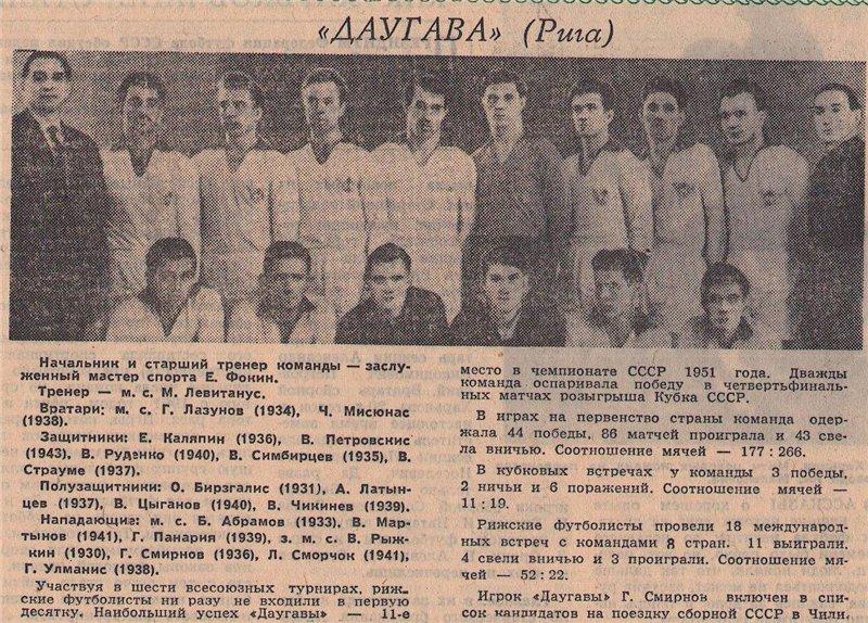 Даугава (Рига) - 1962