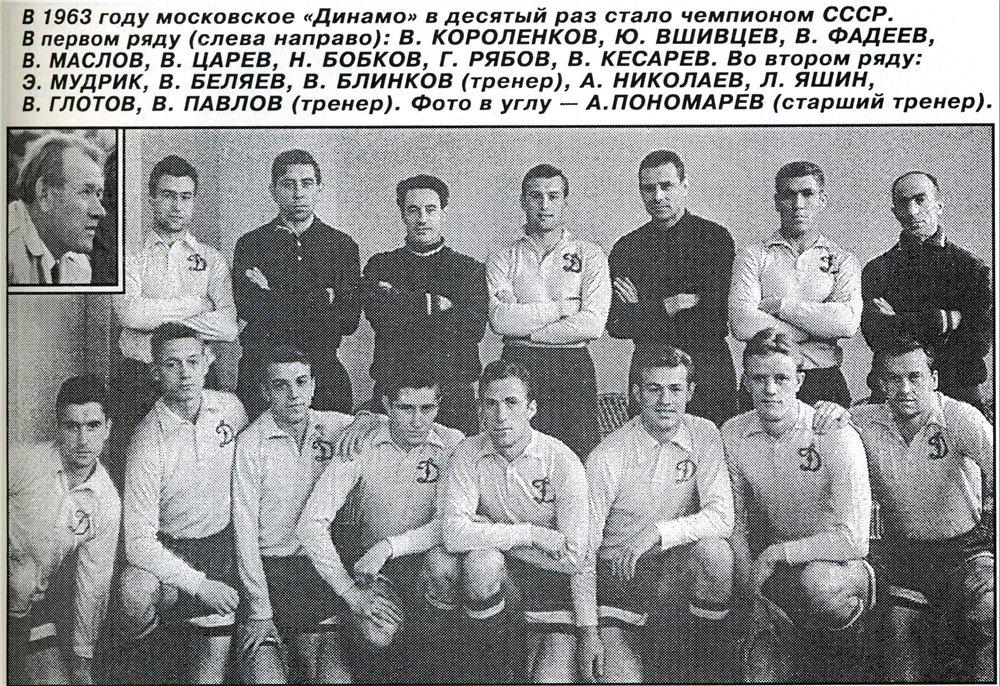 Динамо (Москва) - 1963 чемпион