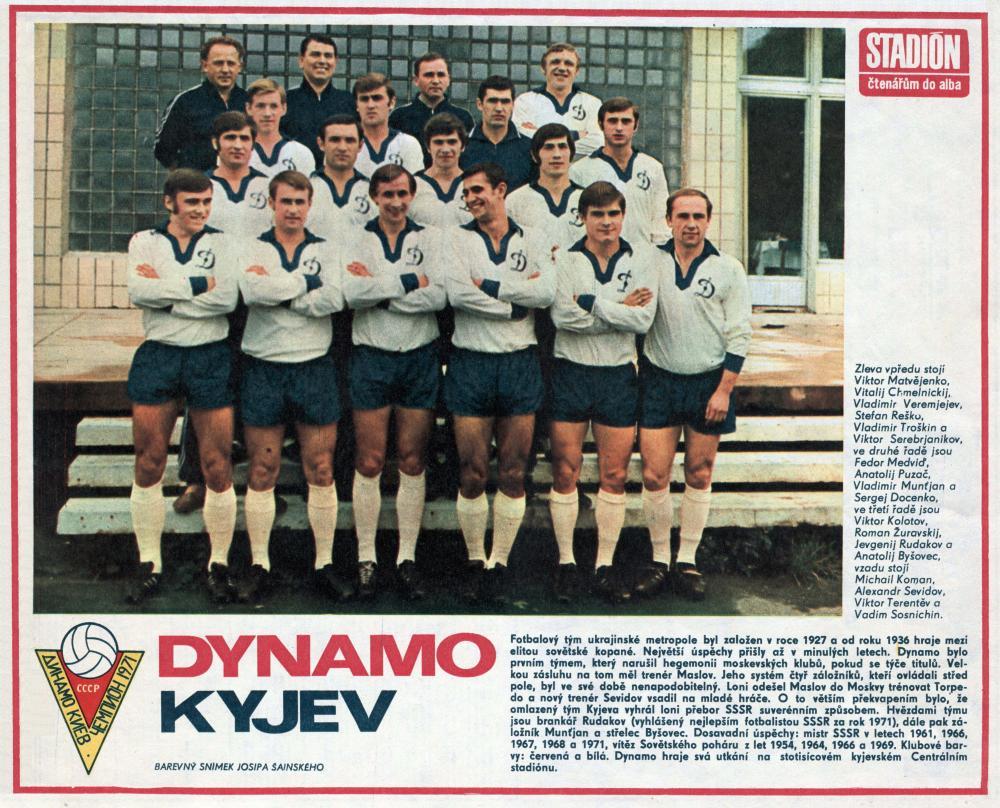 Динамо (Киев) - 1971. Нажмите, чтобы посмотреть истинный размер рисунка