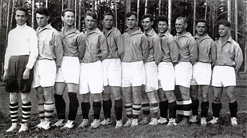 1936 год (весна) команда «Локомотив» (Москва) - пятое место