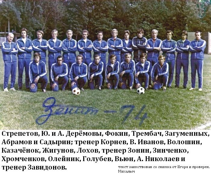 Зенит (Ленинград) - 1974