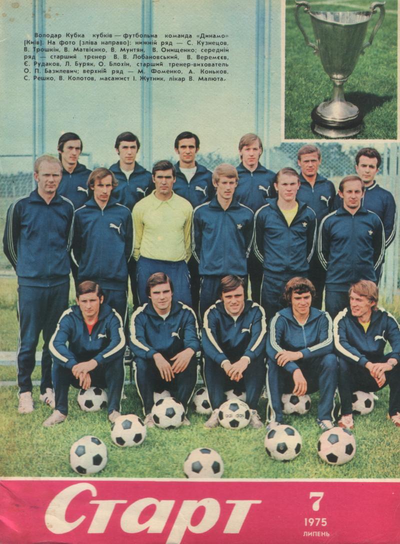Динамо (Киев) - 1975. Нажмите, чтобы посмотреть истинный размер рисунка