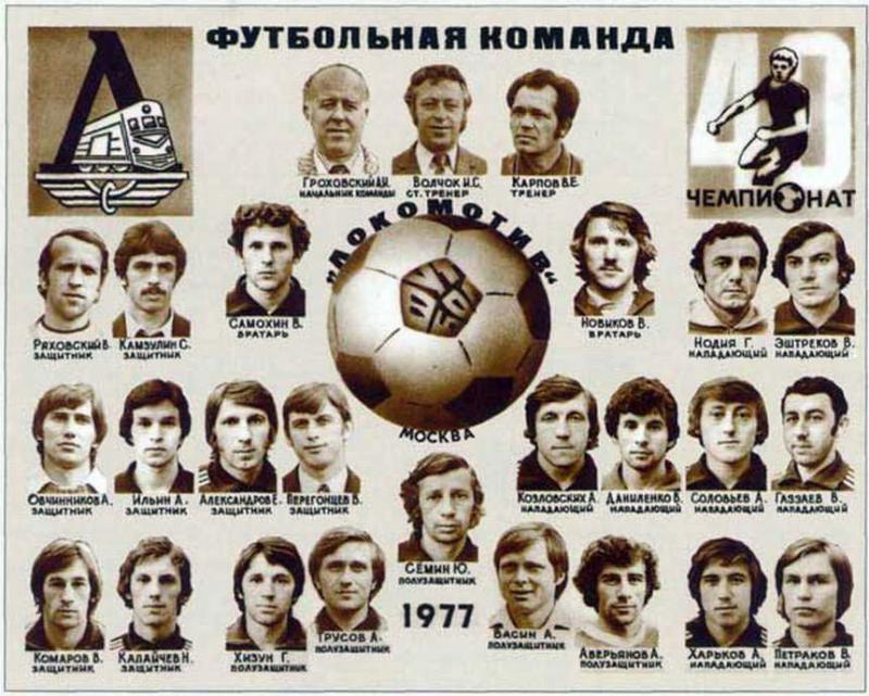 Локомотив (Москва) - 1977. Нажмите, чтобы посмотреть истинный размер рисунка