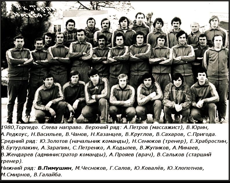 Торпедо (Москва) - 1980