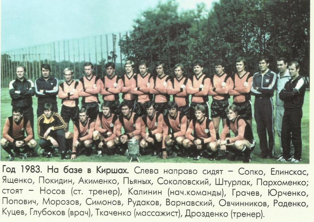 Шахтёр (Донецк) - 1983. Нажмите, чтобы посмотреть истинный размер рисунка