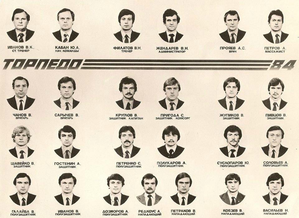Торпедо (Москва) - 1984
