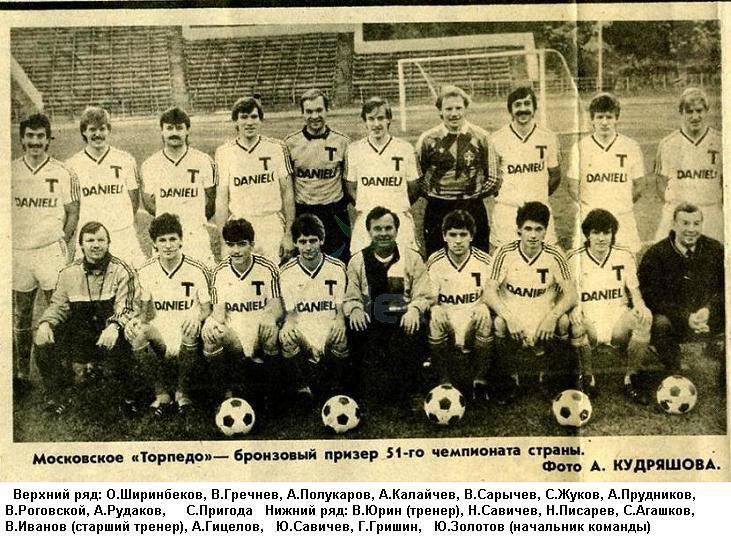 Торпедо (Москва) - 1988